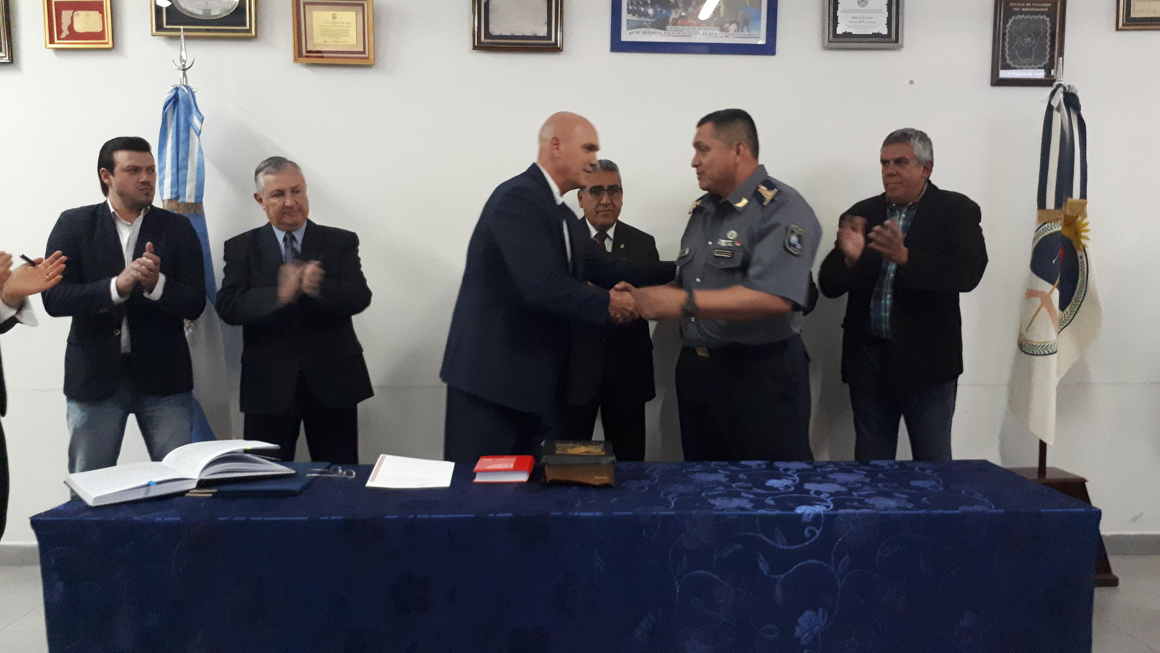 Asunción del nuevo Sub Jefe de Policía Juan Segovia