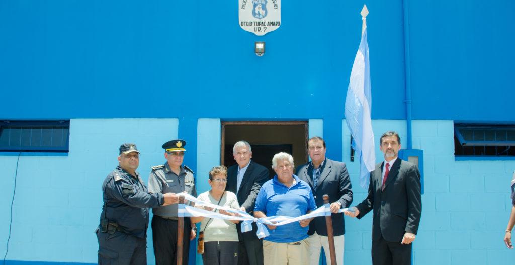 Inauguración destacamento policial en barrio Tupac Amaru